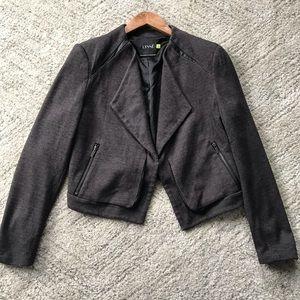 LYSSE // Faux Leather Trim Cropped Jacket